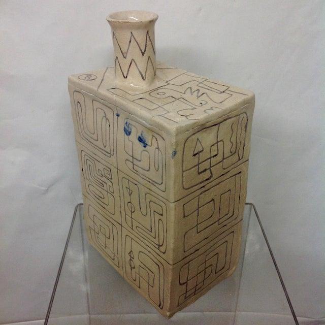 Carved Studio Pottery Vase - Image 3 of 8