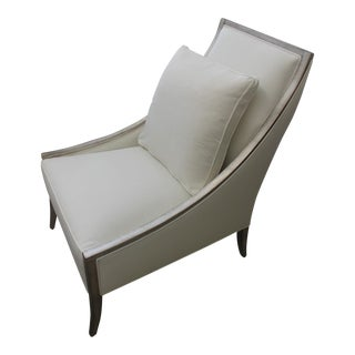 White Linen Chair For Sale