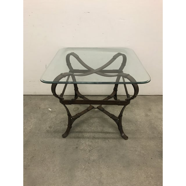Hermes Attributed Iron Belt Occasional Table Chairish - Hermes coffee table