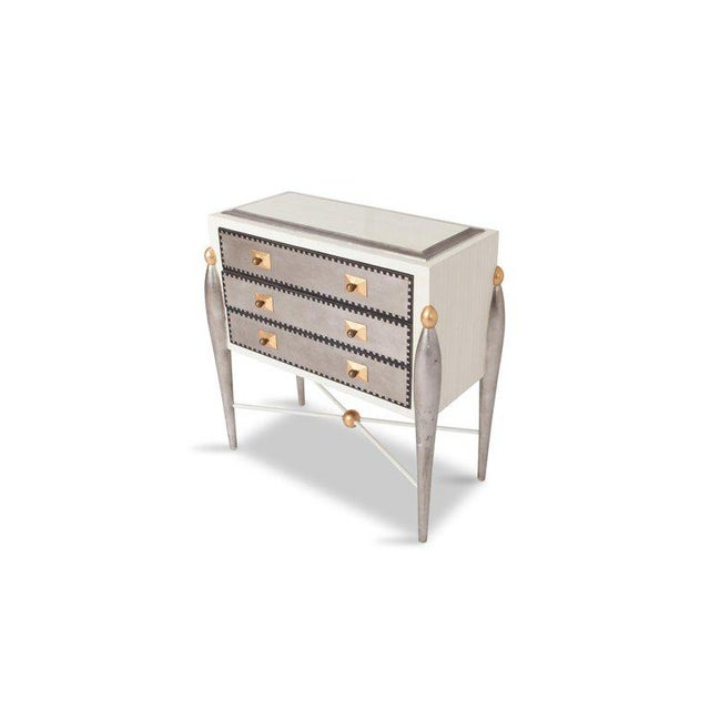 Antique White Hollywood Regency Glam 1970s Drawer Cabinets For Sale - Image 8 of 11