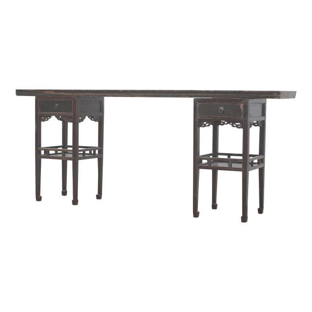 Antique Sarreid LTD Ming Style Console Table - Image 1 of 5