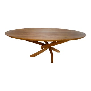 1990s Contemporary Oval Bentwood Coffee Table For Sale