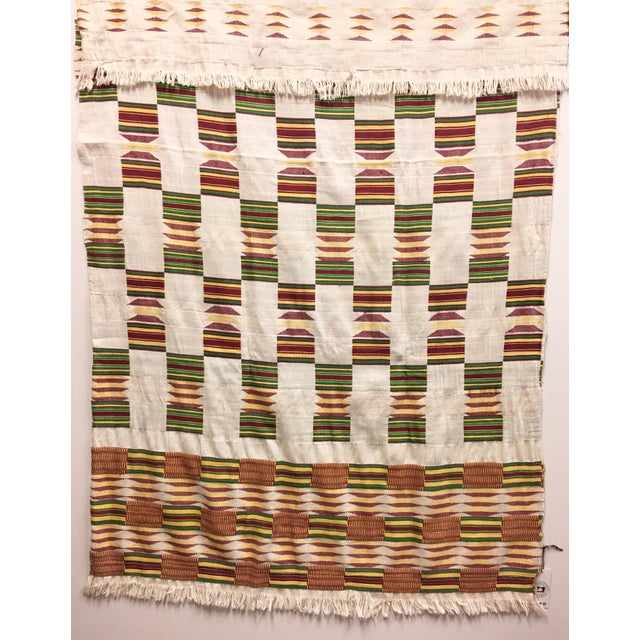 """African Tribal Vintage Textile Throw - 41"""" x 79"""" - Image 11 of 11"""