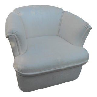 Carson's Mid-Century Modern Swivel Barrel Lounge Chair For Sale