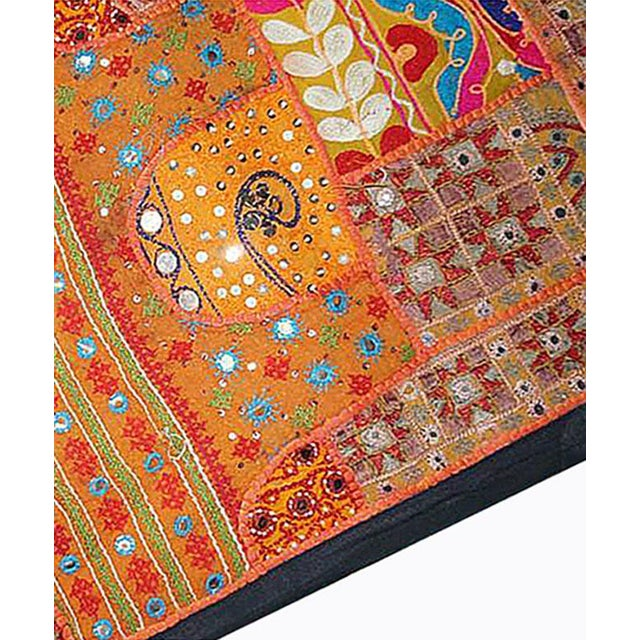Antique Boho Chic Handmade Wall Hanging Tapestry For Sale - Image 4 of 8