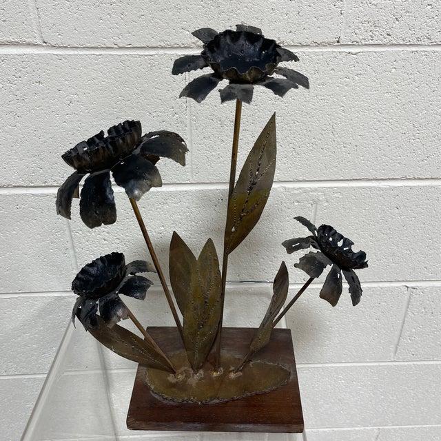 Metal Brutalist Floral Sculpture For Sale - Image 11 of 11