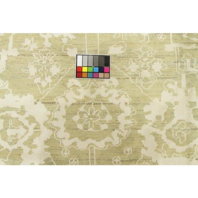 Tan Contemporary Persian Oushak Rug - 10′ × 13′9″ For Sale - Image 8 of 12