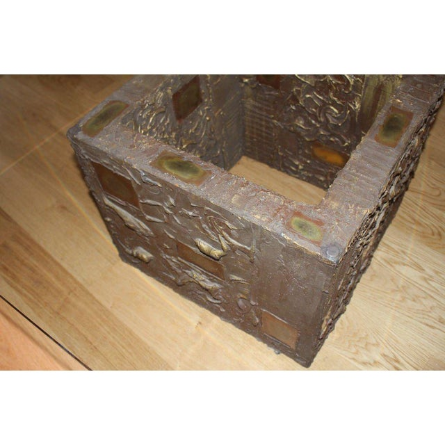 """Metal """"Goop"""" Table For Sale - Image 7 of 11"""