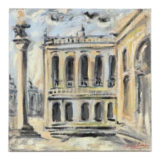 "Jacques Lamy Impressionism Painting ""San Marco Square, Venice"""
