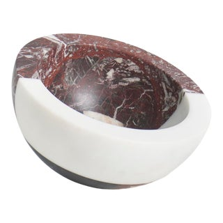 Modern Handcrafted Italian Marble Bowl by Arthur Arbesser For Sale