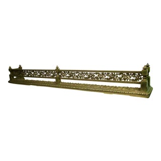 French Style Bronze Fire Fender For Sale