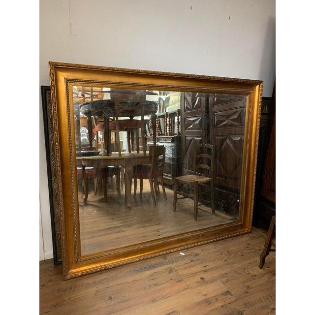 Oversized Gold Framed Beveled Glass Mirror For Sale In Denver - Image 6 of 8