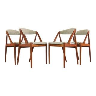 1960s Vintage Kai Kristiansen No. 31 Chairs in Teak - a Set of 4 For Sale
