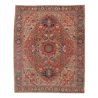 """Pasargad Home Heriz Collection Area Rug- 11'10"""" X 14'7"""" For Sale"""
