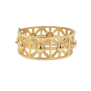 Napier Goldtone Cuff Bracelet, 1976 For Sale