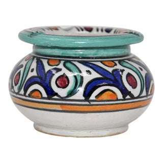 Moroccan Small Covered Astray from Fez For Sale