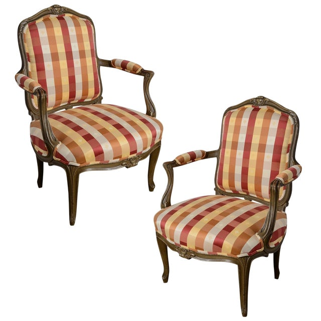 Late 19th Century Painted Fauteuils - a Pair For Sale