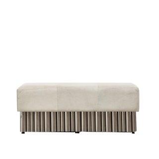 Cream Hair on Hide Bench - Large