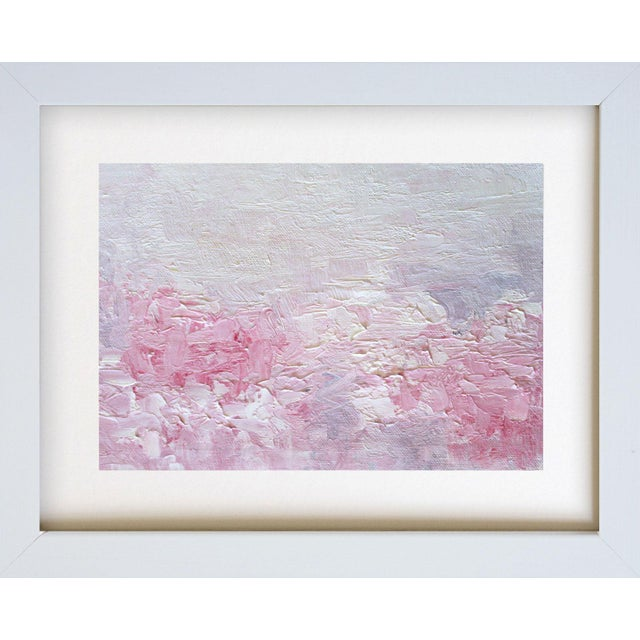 Pink Posies Abstract Impasto Oil Painting - Image 3 of 3