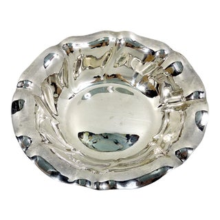 Early 20th Century Antique German Sterling Silver Bowl (.835) by E. L. Vieto Darmstadt For Sale