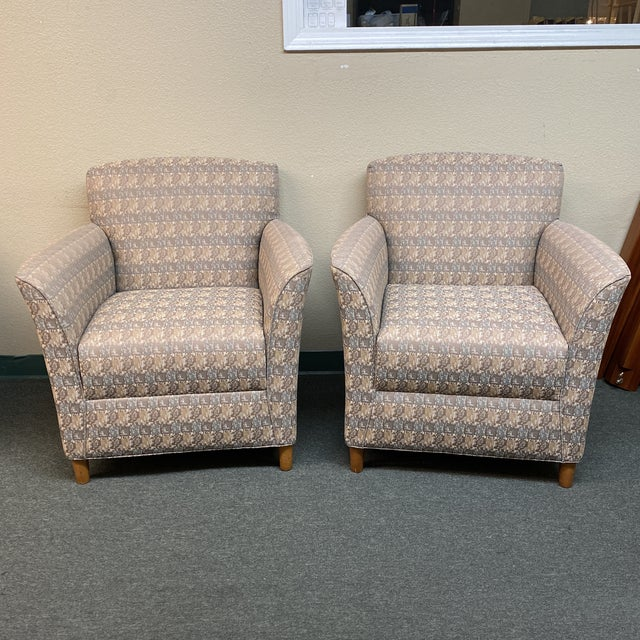 Bernhardt Custom Accent Chairs - a Pair For Sale - Image 13 of 13