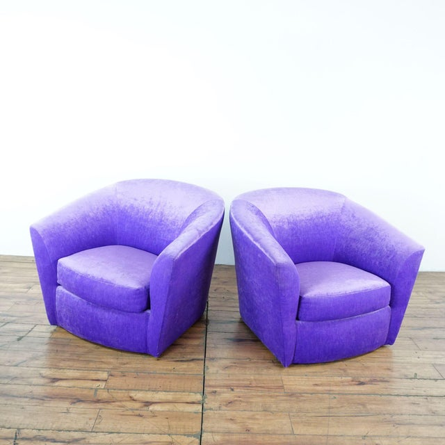 Purple Upholstered Chairs. Dimensions (in): 36.0 W x 32.0 D x 31.0 H.
