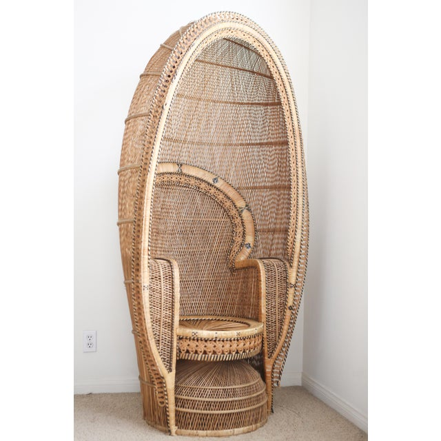 Vintage Rattan and Wicker Peacock Chair For Sale - Image 10 of 10