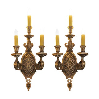 1920 Caldwell Silver Plated Sconces - A Pair For Sale
