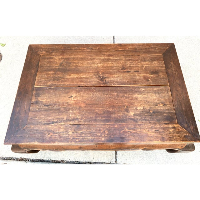 1980s Vintage Thai Opium Bed Style Lanna Coffee Table For Sale - Image 5 of 7