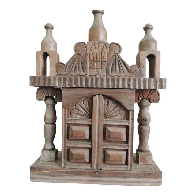 Vintage Wood Indian Hand-Carved Shrine For Sale
