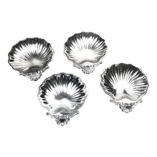 Vintage Silver Plated Shell Dishes - Set of 4 For Sale