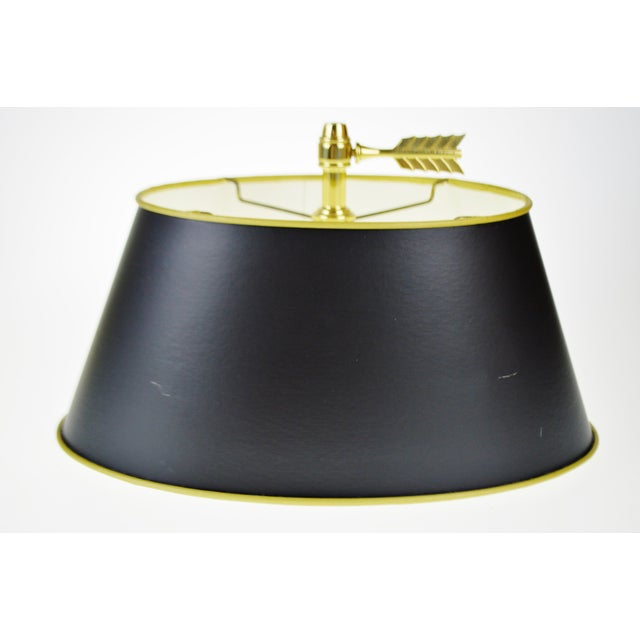 Vintage 1960's Baldwin Brass French Horn Bouillotte Table Lamp For Sale - Image 9 of 11