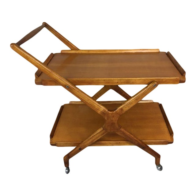 Italian Fruitwood Bar Cart - Image 1 of 9