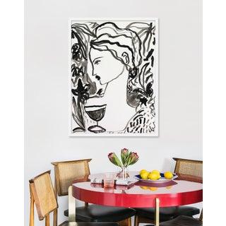 "Medium ""Flowers and Wine in Black"" Print by Leslie Weaver, 25"" X 33"" Preview"