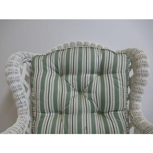 2000s Vintage Custom Wicker Patio Porch Living Room Lounge Chair For Sale - Image 5 of 13