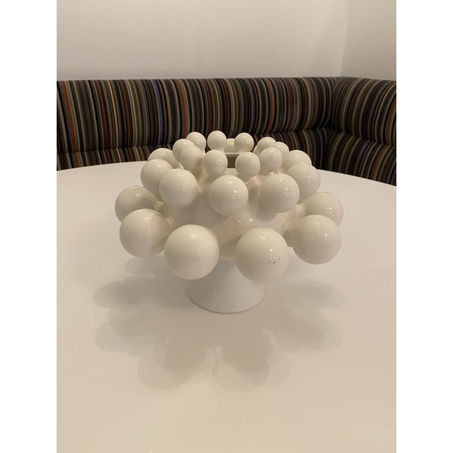 White Klien Reid Nimbus Dome Vase For Sale - Image 8 of 8