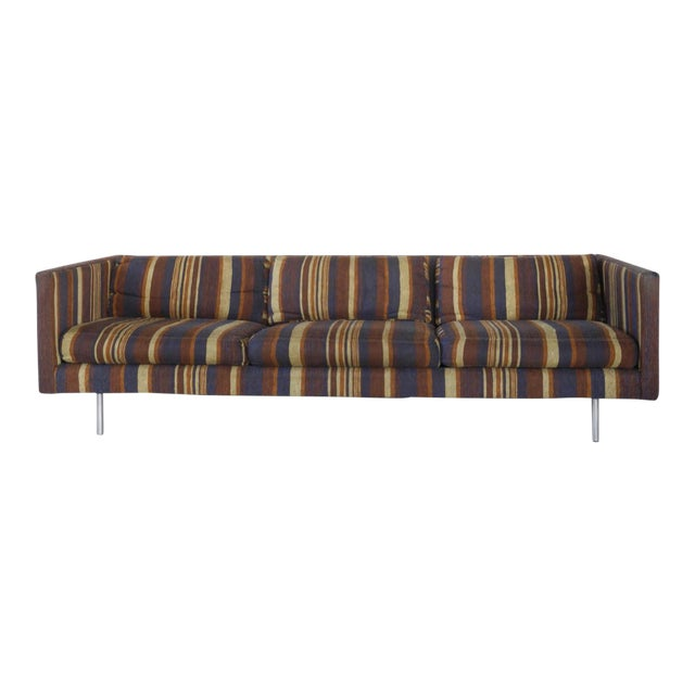 Milo Baughman for Directional Tuxedo Sofa For Sale