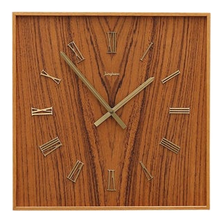 Midcentury Wall Clock by Junghans For Sale