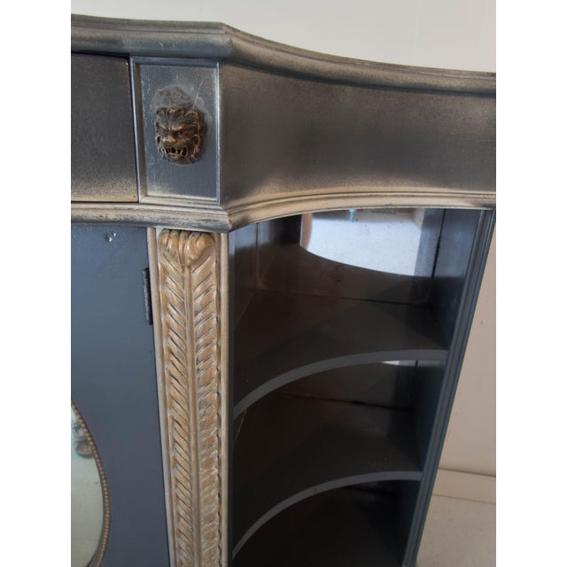 Antique Mirrored Bar Cabinet / Hall Table - Image 8 of 9