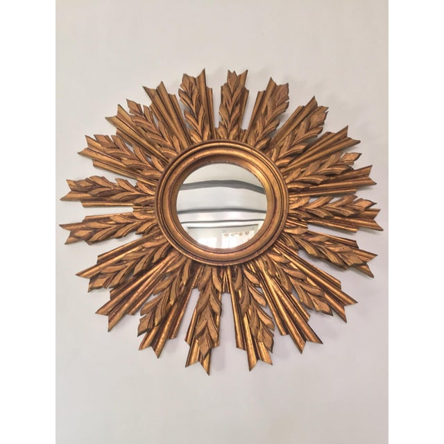 Wooden Sunburst Mirror - Image 2 of 11