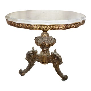 20th Century Italian Hollywood Regency Center Table For Sale