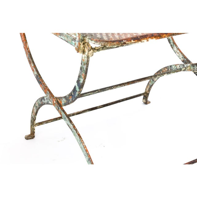 Iron Pair of French Iron Garden Chairs For Sale - Image 7 of 13