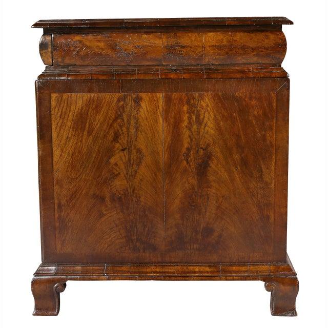 George II Style Walnut Pedestal Desk For Sale - Image 10 of 12