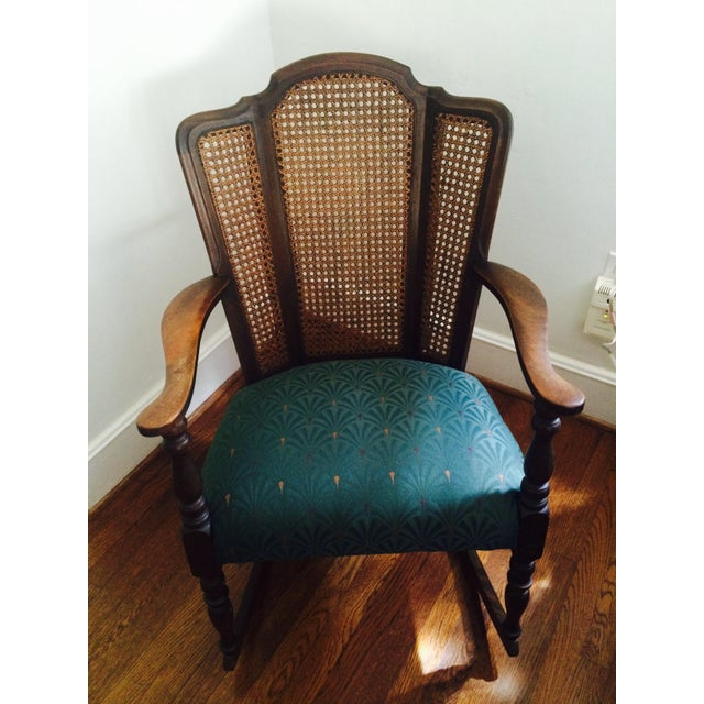Vintage Upholstered Rocking Chair - Image 2 of 6