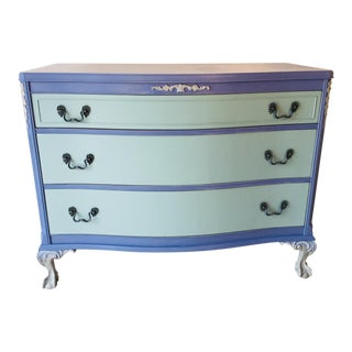 1940s French Provence Style Decor Painted Mahogany Dresser For Sale
