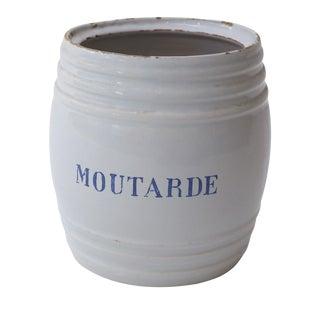 Pot à Moutarde en Faïence For Sale