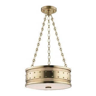 Gaines 3 Light Pendant - Aged Brass Preview