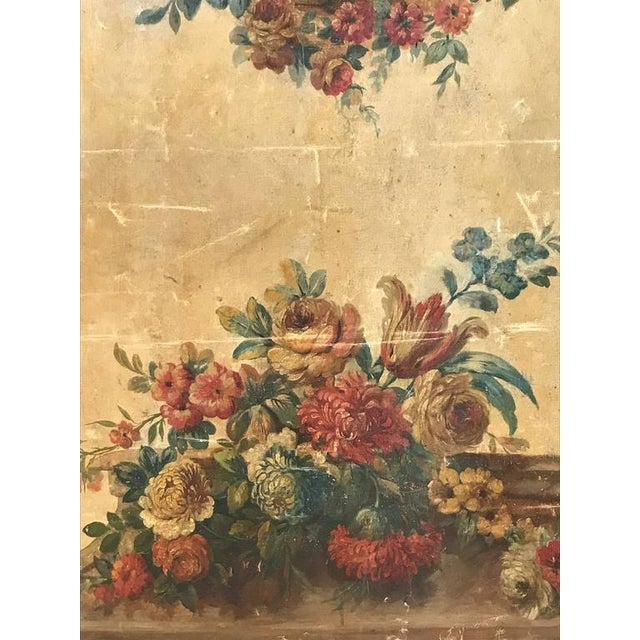 Mid 18th Century Large 18th Century French Oil on Canvas Wall Panel For Sale - Image 5 of 7