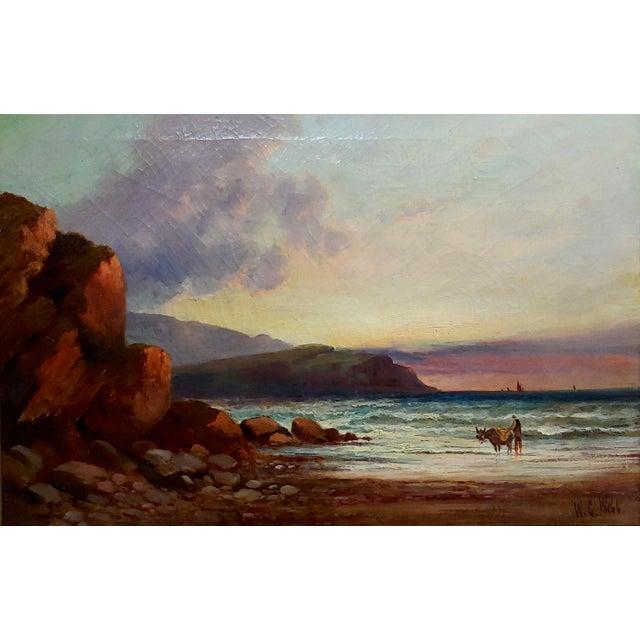 Figurative William Edward Webb - 19th Century Coastal Beach Scene -Oil Painting For Sale - Image 3 of 11