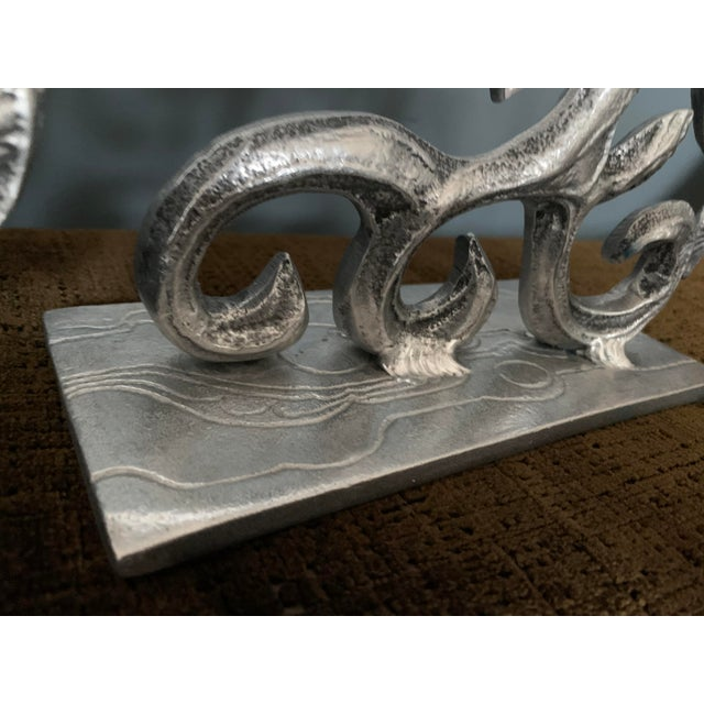 Gray Brutalist 1970s Menorah by Donald Drumm For Sale - Image 8 of 11